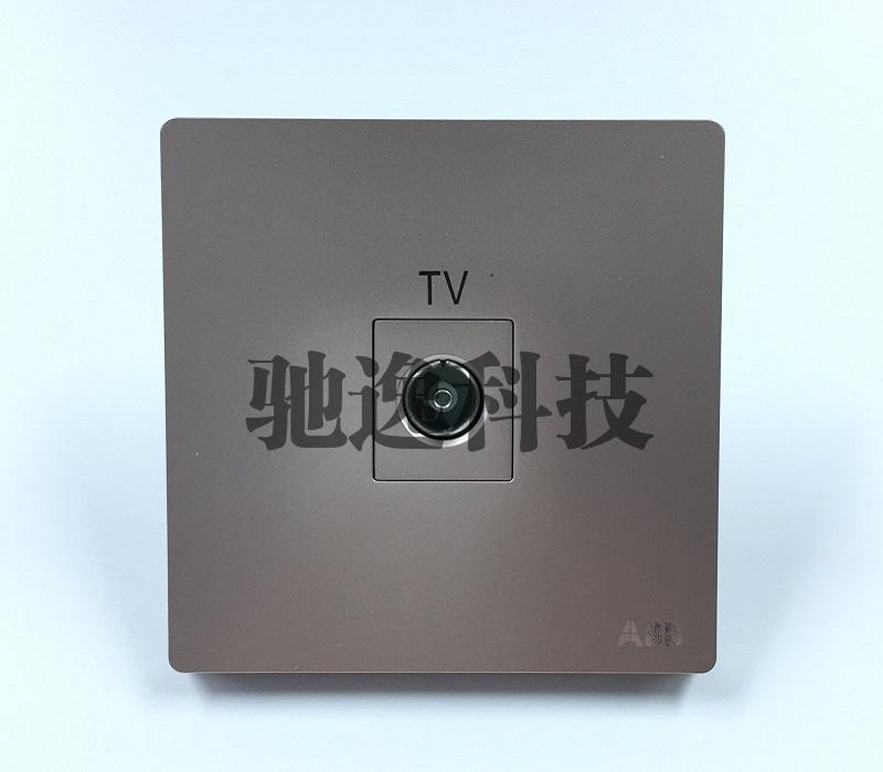AF301-PG 一位电视插座 朝霞金