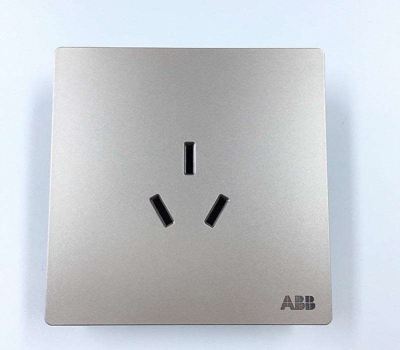 AF206-PG 一位中标三孔插座 朝霞金