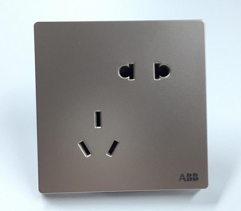 AF205-PG 二位中标二三极插座 朝霞金