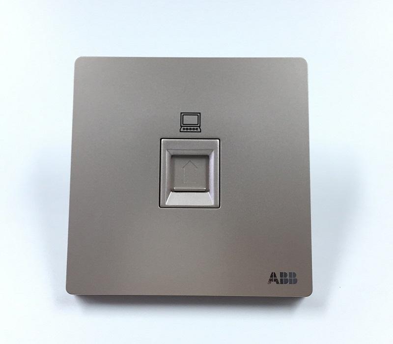 AF331-PG 一位超5类电脑插座 朝霞金
